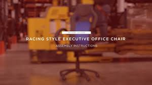 Assembly: <b>Racing</b> Style <b>Executive Office Chair</b> (SKY2438 SKY2439 ...