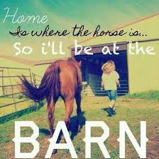 Home is where the horse is...so I'll be at the BARN | Horse ... via Relatably.com