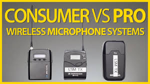 Consumer vs <b>Pro Wireless Microphone Systems</b> - YouTube