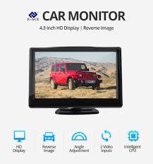 E ACE 4.3 Inch <b>Car Monitor TFT LCD</b> Display Reverse Camera ...