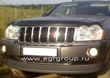 <b>Дефлектор капота</b> Grand Cherokee 2005-2011 <b>темный</b>, <b>EGR</b> ...