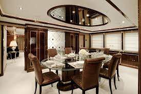 view in gallery dark brown and white dining room with art deco elements art deco dining