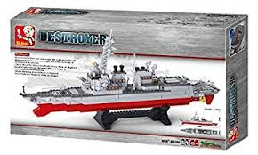 Buy <b>Sluban</b> Destroyer Submarine <b>Building</b> Block Toy For Kids 615 ...
