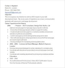 seo resume template –    free samples  examples  format download    evelyn hayward seo resume