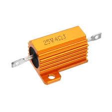 <b>3pcs RX24 25W</b> 4R 4RJ Metal Aluminum Case High Power Resistor ...