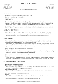 Resume Templates For College Students For Internships with Faculty Assistant Experience