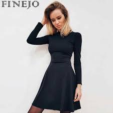 Winter Fashion Sleeve Dresses Vestidos Long <b>2018 Autumn</b> Casual ...
