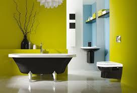 ideas blue yellow bathrooms
