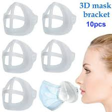 10PCS <b>3D Face Mask</b> Mouth Cover Bracket <b>Inner</b> Stand Holder ...
