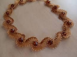 Плетение элемента — завитушки — <b>колье</b> «Waves of <b>Pearls</b> ...