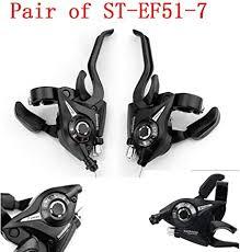 Bike 1 Pair Set Shimano ST-EF51-7 MTB Gear 3 x 7 ... - Amazon.com