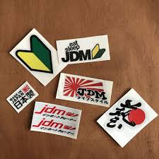 <b>JDM</b> Racing emblem Japanese text <b>style</b> Car <b>reflective</b> sticker for ...