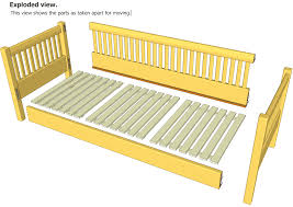 daybed plans building frame day bed