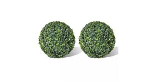 <b>Boxwood Ball Artificial Leaf</b> Topiary Ball 35 cm 2 pcs - Matt Blatt