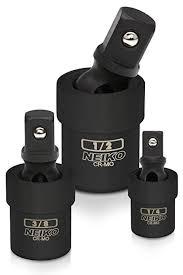 Neiko 02486A Black Complete <b>Impact Universal</b> Joint Socket <b>Swivel</b> ...