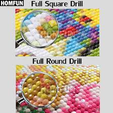 <b>HOMFUN 5D Diamond</b> Painting Full Drill <b>Diamond</b> Embroidery ...