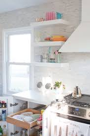 Kitchen Open Shelves How To Organize Open Shelving In A Kitchen Lay Baby Lay