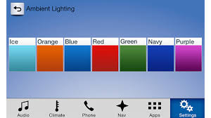 with sync 3 and the ambient lighting feature you can set the mood in your vehicles cabin by selecting one of several different accent colors accent ambient lighting