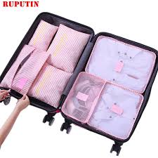 <b>RUPUTIN</b> 6Pcs/set Baggage <b>Travel</b> Organizer Bags Waterproof ...