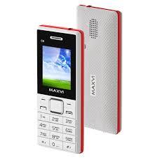 Мобильный <b>телефон Maxvi c9</b> ds white/ red (2 sim)