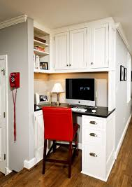 cool small home office ideas built desk small home office