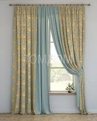 Комплект штор «Сочур (голубой)» | Шторы, Дизайн окна ...