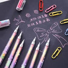Highlighters writing pen <b>Korean stationery wholesale</b> DIY 6 plus a ...