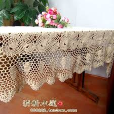 rectangular dining table cover cloth knitted vintage: zkka design handmade crochet tv cabinet cover chinese style nostalgic vintage  mat cotton knitted table runner cloth