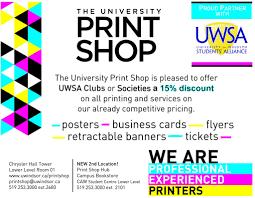 student groups uwsa university of windsor students alliance print shop deal