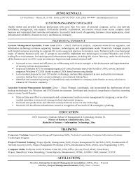 program manager  sample resume for contract specialist    information systems specialist