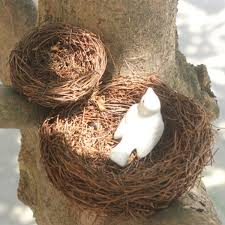 <b>1Pcs Vintage Decoration</b> Props Real Bird Nest 100% Bird Cage ...