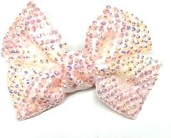 LOOK NEW Light Pink All Sequin Shiny Hair Bow Clip Hair Clip(Pink ...