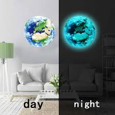 new 3D wall stickers for kids rooms <b>luminous</b> earth <b>moon</b> glow in the ...