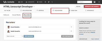 Adding external recruiters to Workable | Workable Add a recruiter to Workable