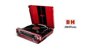 <b>ION Audio Mustang</b> LP <b>Stereo</b> Turntable (Red) <b>MUSTANG</b> LP RED ...