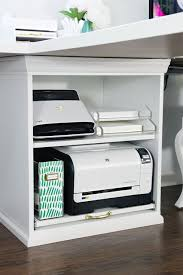 iheart organizing ikea stuva printer cart hack with pullout shelf for printer catch office space organized