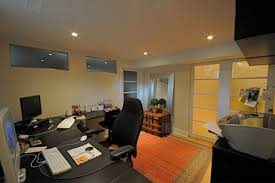 basement office traditional home office basement home office