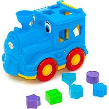 <b>Сортер Orion Toys</b> Паровозик Кукушка, в ассортименте, 26 см ...