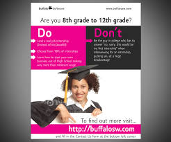 modern bold flyer design for buffalo software by neo ink design flyer design by neo ink for fancy flyer to entice high school students design