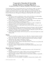 objectives in resumes for internships equations solver accounting internship resume objective exles entry level