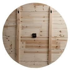 "36"" Rustic Washed Gray <b>Wood Plank</b> Frameless <b>Wall Clock</b> - Buy ..."