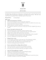 head cook job description template head cook job description