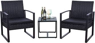 Flamaker 3 Pieces Patio Set Outdoor Wicker Patio ... - Amazon.com