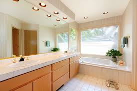 recessed lights bathroom room