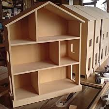 small handmade childrens nursery dolls house bookcase shelves mdf 30x24x9 bookcase dolls house emporium