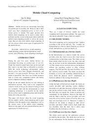 URECA Research Paper   Mobile Cloud Computing Proceedings of the URECA NTU         Mobile Cloud Computing Zin Ye Htike School