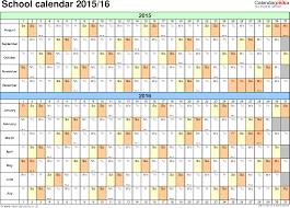 school calendars as printable word templates template 2 school year calendars 2015 16 as word template landscape orientation