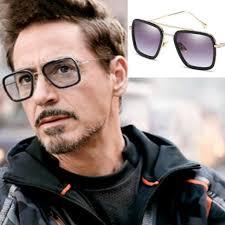 NEW <b>Fashion Iron Man</b> Sunglasses <b>Square</b> Robert Downey TONY ...