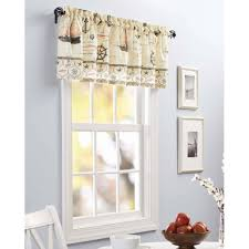 Kitchen Curtains At Walmart Better Homes And Gardens Nautical Kitchen Curtains Set Of 2 Tier