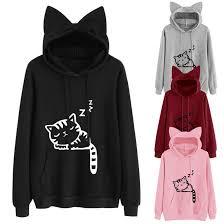 Женские толстовки с капюшоном <b>Cat zzz</b>, модные повседневные ...
